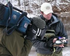 Winter fishing show shoot