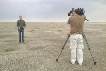 The dry lake beds of Inner Mongolia with Ben O'Hara-Byrne.
