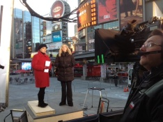 On assignment for Global National in Toronto with Dawna Friesen and Jennifer Tryon.