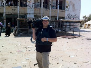 On assignment for Global National in Tripoli, Libya (August 2011)